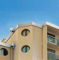 Aluminium parapet extension and facade band system
