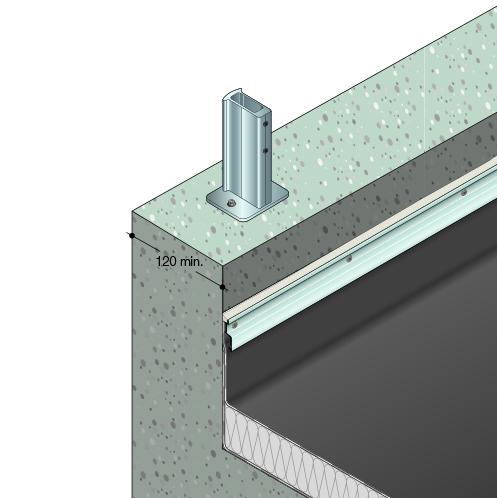 Dani Alu Barrial Fixed Aluminium Safety Railings For
