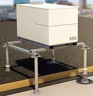 Freestanding supporting system for technical equipment on roofs